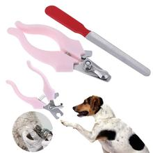 2Pcs/set Pet Animal Puppy Nail Clippers Claw Cutter Scissors for Dog Puppy Cats Nail Trimmers Nail File Pet Grooming Tool Supply