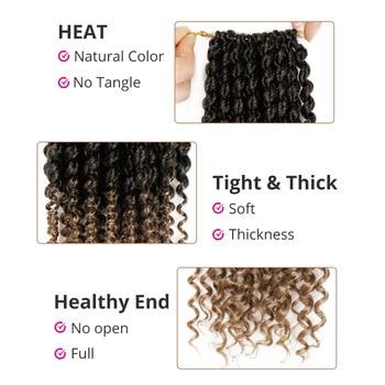 14 inch Marley Braids Ombre Hair Crochet Braid Synthetic Braiding Hair Extensions Braids Curly Crochet Hair Women Locs Twist 4