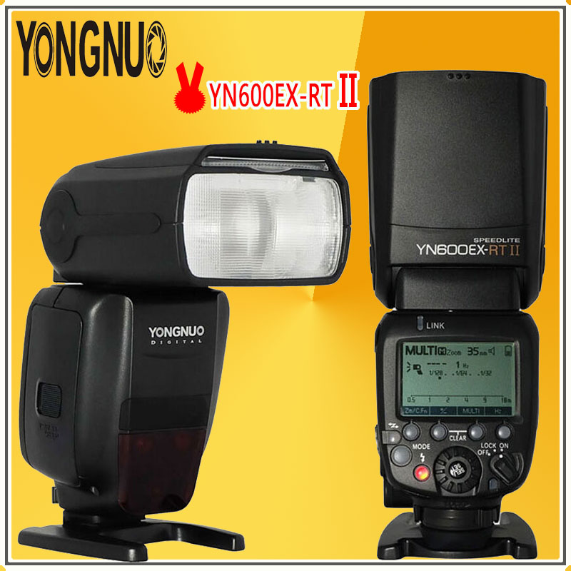 YONGNUO Pro Creative 2Pcs YN600EX-RT II 2.4G Wireless HSS Master TTL Flash Speedlite For Canon Camera as 600EX-RT YN600EX RT II yn e3 rt ttl radio trigger speedlite transmitter as st e3 rt for canon 600ex rt new arrival
