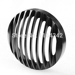 """Image 3 - 5 3/4 """"Kütük Alüminyum Ön Motosiklet Far ızgara kapağı için Harley Davidson Sportster XL 1200 883 04 ~ 14 Kafa aydınlatma koruması"""