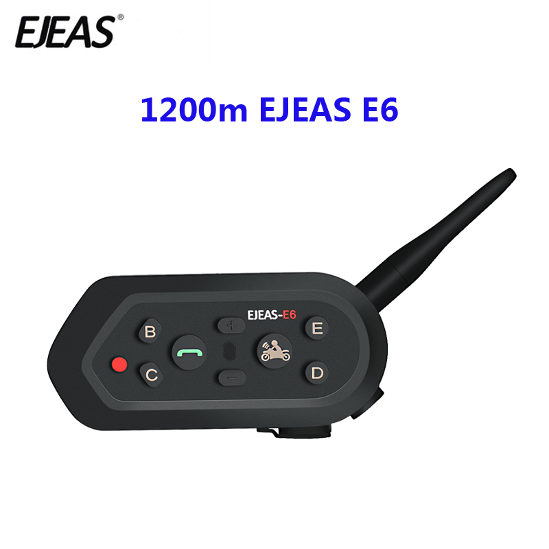 1200m EJEAS E6 Motorcycle Communication System Vox Bluetooth Motorcycle Intercom Moto Helmet Headset Motorradhelm Bluetooth