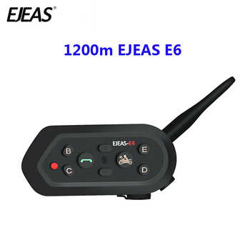 1200m EJEAS E6 Motorcycle Communication System Vox Bluetooth Motorcycle Intercom Moto Helmet Headset Motorradhelm Bluetooth - DISCOUNT ITEM  39% OFF All Category