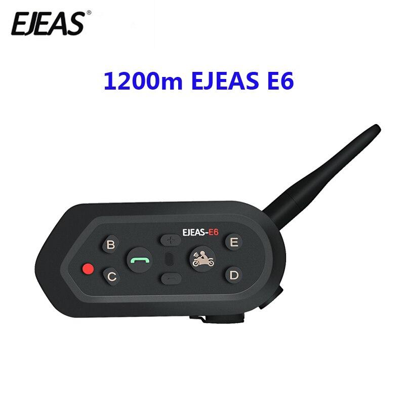 1200m EJEAS E6 Motorrad Kommunikation System Vox Bluetooth Motorrad Intercom Moto Helm Headset Motorradhelm Bluetooth