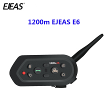 E6 1200m  Motorcycle Communication System Vox Bluetooth Motorcycle Intercom Moto Helmet Headset Motorradhelm Bluetooth