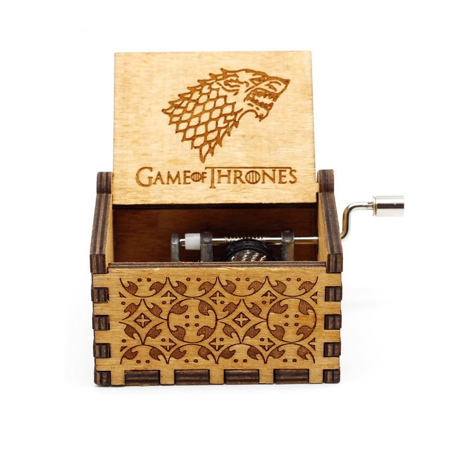 Новая музыкальная шкатулка QUEEN LOVE DAD And LOVE MAM My Sun музыкальная старинная резная деревянная рукоятка мама и подарки для папы подарок на день рождения - Цвет: Game Of Throne