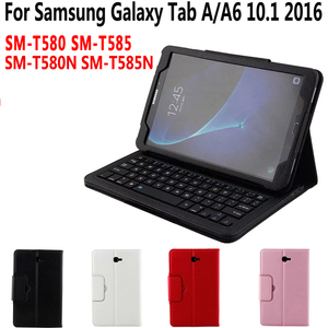 Image 2 - Bluetooth Keyboard Case for Samsung Galaxy Tab A A6 10.1 2016 2019 T580 T585 T580N T585N T510 T515 Keyboard Cover Funda + Gift