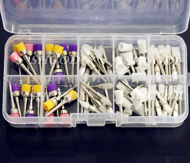 Dental Prophy Polishing Brushes Flat and Tapered Polisher Bowl Nylon