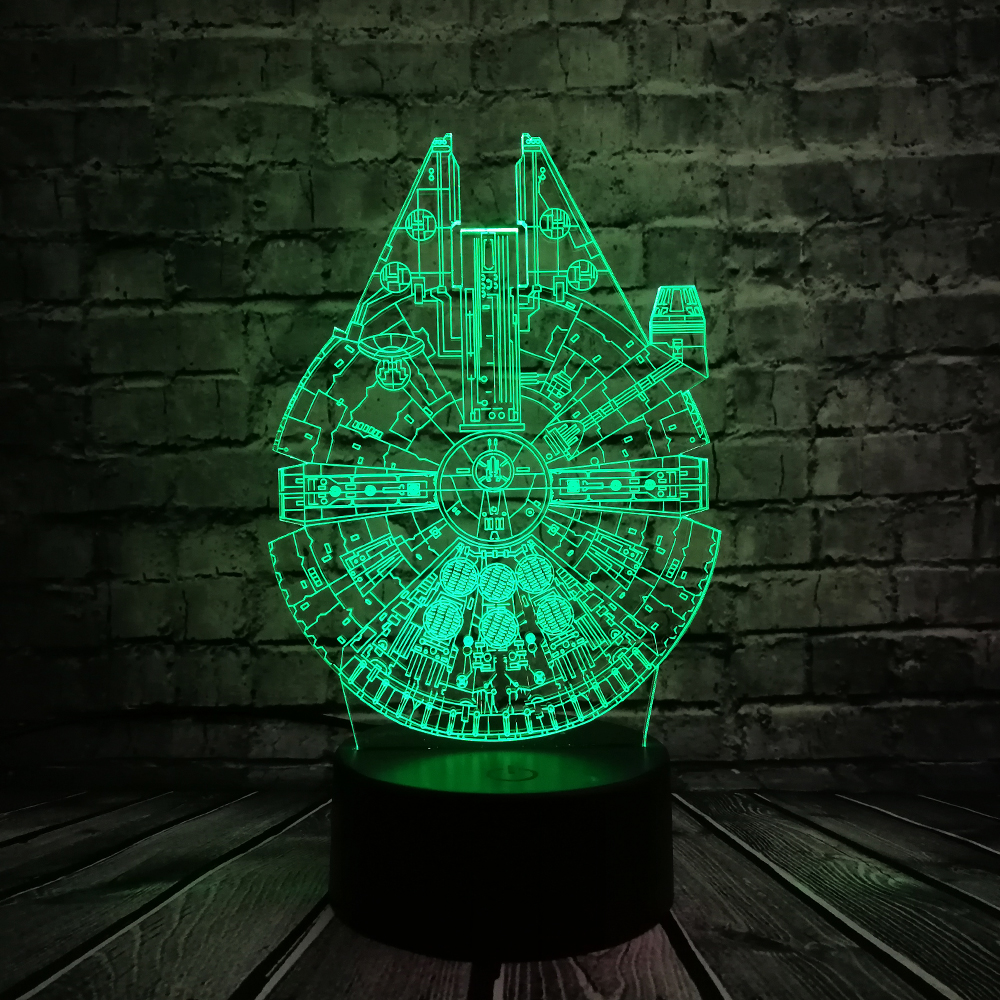 Star Wars UFO BB8 R2D2 3D LED Lámpara Cool Boy Dormitorio Luz de - Luces nocturnas - foto 5