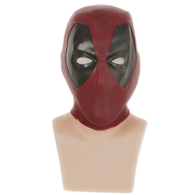 X-COSTUME Wade Wilson Cosplay Costume Props Latex Mask For Deadpool Replica Suit By