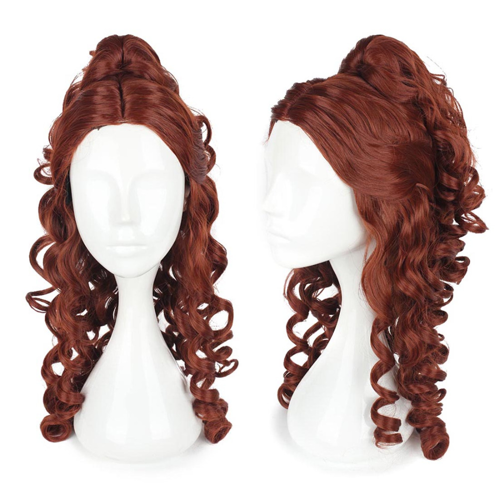 adult belle cosplay beauty and the beast cosplay Brown hair Princess belle party halloween women wholesale