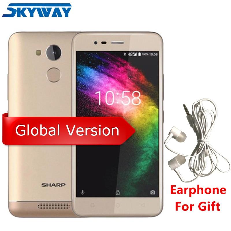 Global Version SHARP R1 4G LTE 3GB RAM 32GB ROM Smartphone MT6737 Quad Core 5.2'' 13MP + 8MP 4000mAh Big Battery Cell Phone