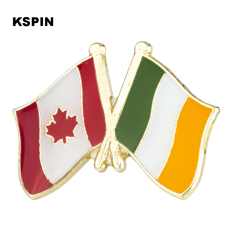 Fast Deliver Australia Ireland Friendship Flag Label Pin Metal Badge Badges Icon Bag Decoration Buttons Brooch For Clothes 1pc Badges