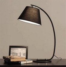 North European  fabric table lamp for living room bedroom E27 led fashion desk lighting wedding decoration A050