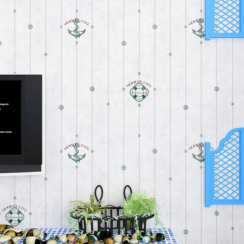 beibehang fresh Mediterranean anchor papel de parede para quarto em 3D Wallpaper for walls 3 d Wallpapers wall paper roll shinehome european roman pillar angel soft roll wallpaper for 3d rooms walls wallpapers for 3 d living room wall paper murals