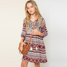 girls elegant dresses autumn costumes 12 years teenagers girls clothes fancy frocks brick navy 8 children girl clothing