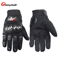 Riding Tribe Stainless Motorcycle Racing Gloves Men Breathable Reflective Motocross Moto Gloves Protective Gear