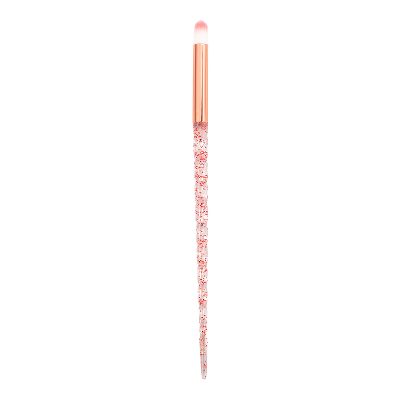 8pcs Red Glitter Diamond Unicorn Brush Crystal Brushes Foundation Blending Power Eyeshadow Brush Cosmetic Beauty Make Up Tool 22