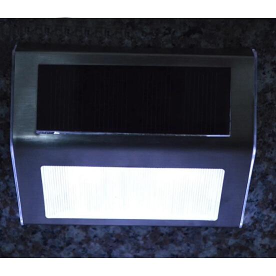 2016 New LED Solar Powered Stainless Steel Outdoor Corridor Garden Stairs  Convert Waterproof White Light Lam P31