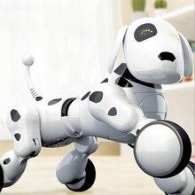 Собака Робот собака цифровой домашнее животное музыка Интеллектуальный робот 2,4G беспроводной пульт дистанционного управления электронные говорящие игрушки развивающий подарок для детей