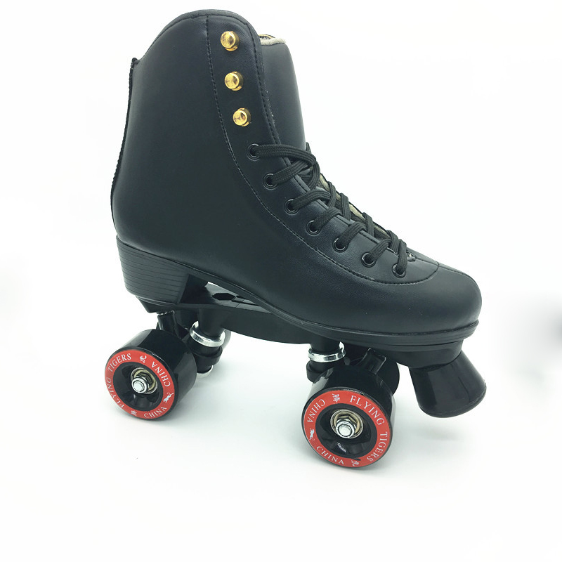 Children Adult Parenting Unisex Two Line Roller Skating Shoes Double Row Skates Kids 4 PU Wheels High Grade Genuine Leather IB57 children adult parenting two line roller shoes skating 4 wheels double row skates patins kids pu wheels adjustable unisex ib42