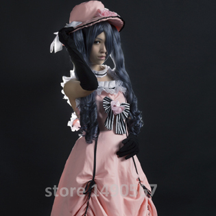 Anime Black Butler Ciel Phantomhive female pink party Dress Cosplay Costume Halloween costume for adult