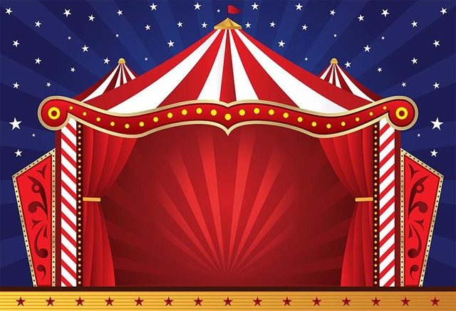 Vinyl Carnival Circus Tent Stage Entrance Photo Studio