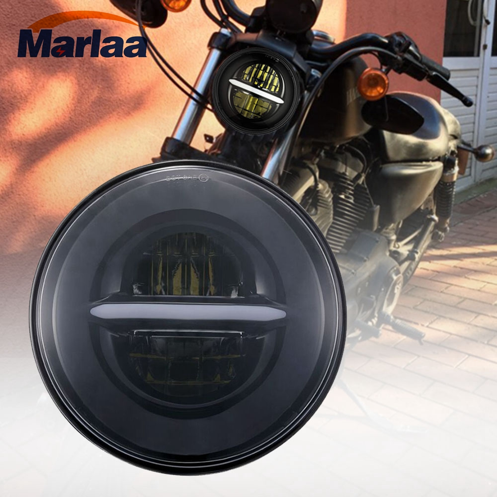 Marlaa 5 3/4 5.75 LED Projector Headlight for Harley Davidson Sportster, Dyna, Softail, Indian Scout, Scout 60, Scout Bobber scout easy ii exclusiv