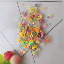 1000pcs Loose Sequins 6mm ring Shape Pvc Sequins Diy Dress Clothing Accessories Sewing Embellishment Clothing Craft Wholesale