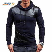 Covrlge Hoodies Men Fashion Thin Men's Hoodies and Sweatshirts Brand-clothing Casual Tracksuits Sportsuit Black Hoodie MWW042