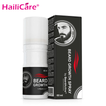 Beard Growth Spray 60ml Beard Grow Stimulator Fast Growth Spray Natural Facial Hair Grower Accelerate Beard Oil 1 pcs