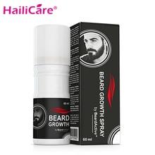 Beard Growth Spray 60ml Beard Grow Stimulator Fast Growth Spray Natural Facial Hair Grower Accelerate Beard Oil 1 pcs