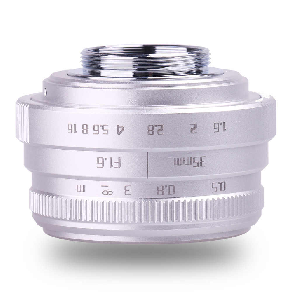 Nouvelle arrivée fuji un 35mm f1.6 C monture caméra CCTV objectif II pour N1 fuji film fuji NEX Micro 4/3 EOSM argent