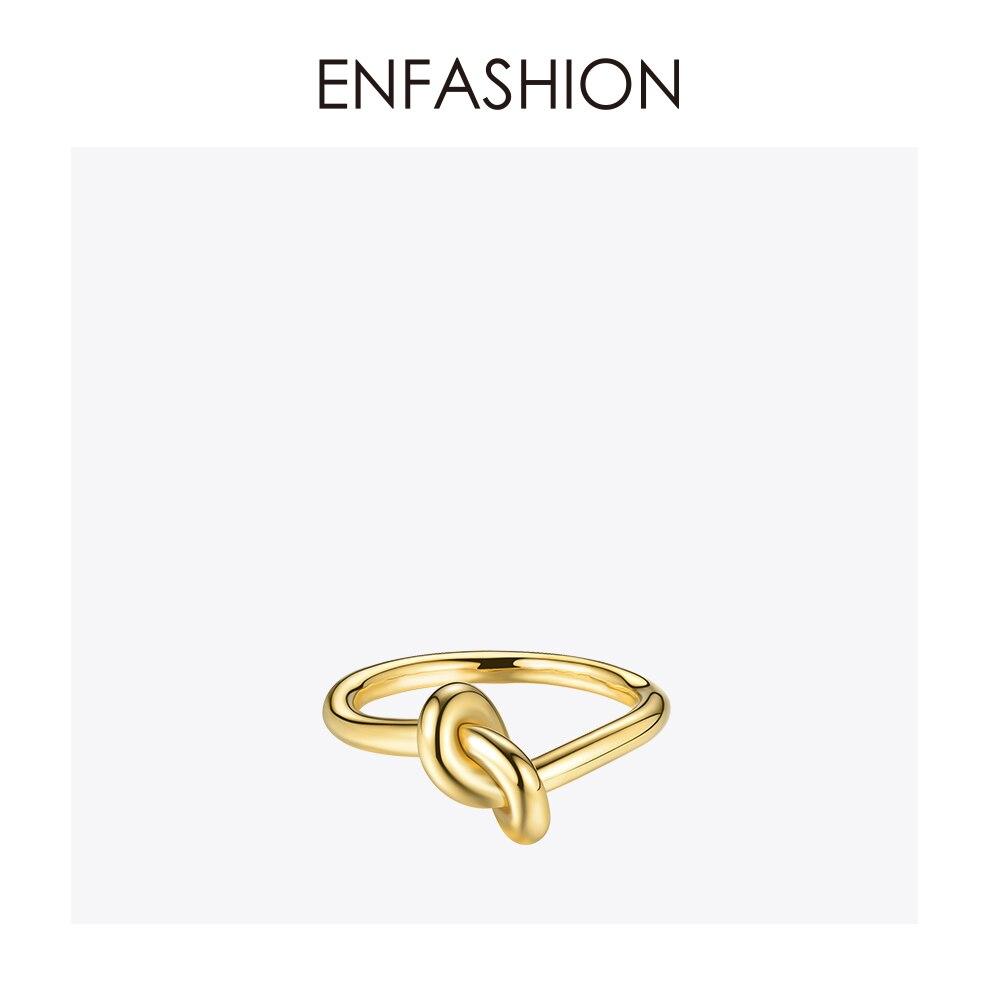 Enfashion Atacado Nó Anéis de aço Inoxidável cor de Rosa de Ouro Anel Midi Knuckle Anéis Para As Mulheres Da Moda Jóias Anillos Bagues
