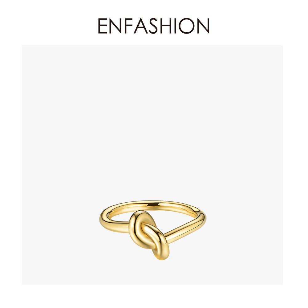 Enfashion atacado anéis de nó de aço inoxidável cor de ouro rosa midi anel de moda anéis de junta para jóias femininas bagues anillos