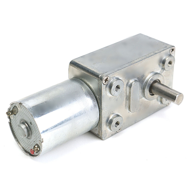 DC 12V Gear Reduction Motor Worm Reversible High Torque Turbo Geared Motor 10RPM Mini Electric Gearbox Reducer цена