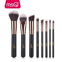MSQ Rose Gold 8pcs Makeup Brushes Set Foundation Eye Blusher Make Up Brushes Kit High Quality Synthetic Hair