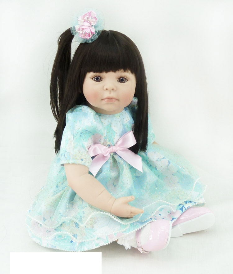 Pursue 20/50 cm Handmade Adora Green Dress Silicone Reborn Baby Girl Toddler Doll for Children House Play Christmas Doll Gift кукла adora baby doll 20 classic snow white