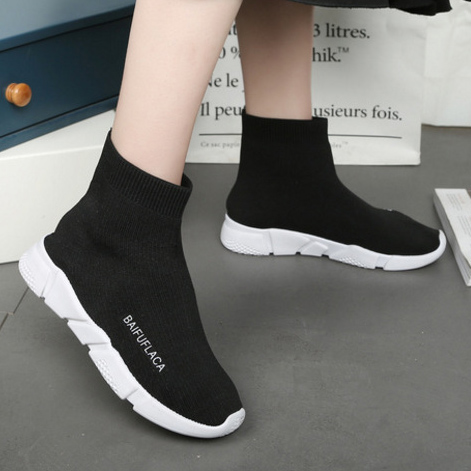 Detail Feedback Questions about Women Sock Boots Autumn Winter Flat Ankle  Boots Elastic Knitting Thick Bottom Slip On Platform Sport High Top Sneakers  Shoes ... e6afcc876cc1