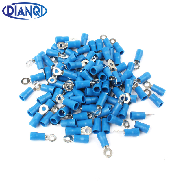 DIANQI RV2 3 Blue 22 16 AWG 1.5 2.5mm2 Insulated Ring Terminal ...