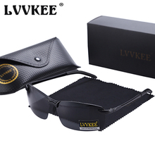 Hot LVVKEE Brand Designer Polarized Men Sunglasses Male Driving Rimless Sun Glases For Women anti glare Eyewear Oculos With Case