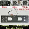 Car License Plate Frame Rear View Camera HD Car Camera For European Cars EU Car Number Frame Backup Reverse Reversing Camera