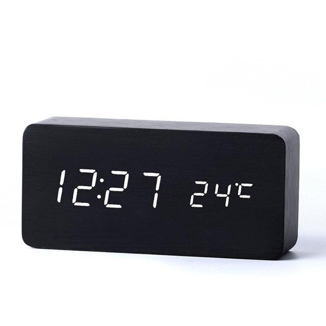 df3bd777d4a Antigo Relógios De Mesa Com Três Grupo de Alarme LEVOU Relógio Silenciosa Relógio  Digital Placa de