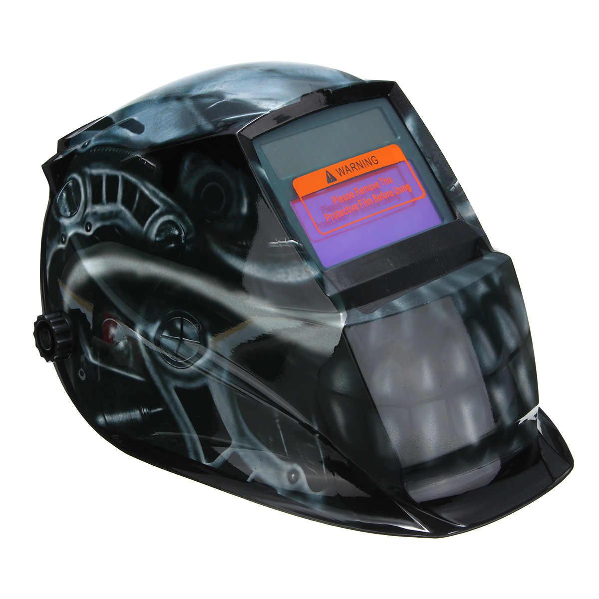 Лучшая цена Солнечная Авто Затемнение сварщики шлем заварки головки щит шлифовальные полный охват лицо сварочные