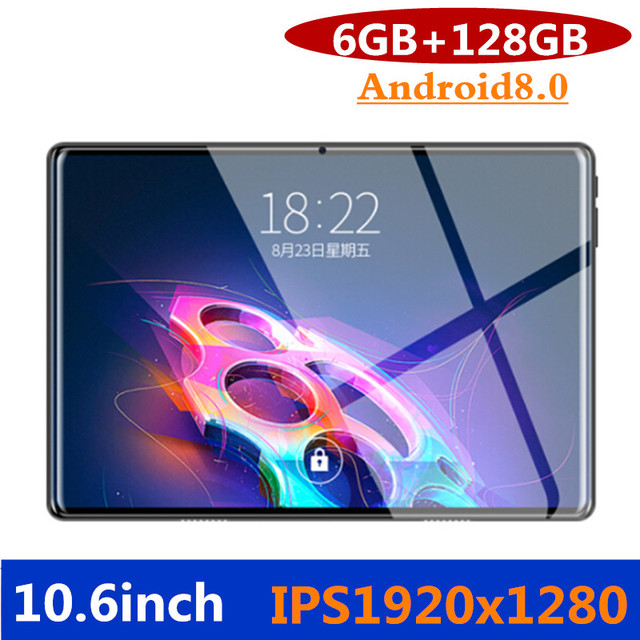 2019 NEW 10.6 inch 3G Phone Call Tablets Octa Core Tablet pc Android 8.0 Tablet 6G+128G WiFi GPS Dual SIM pc tablet 7 8 9 10.1