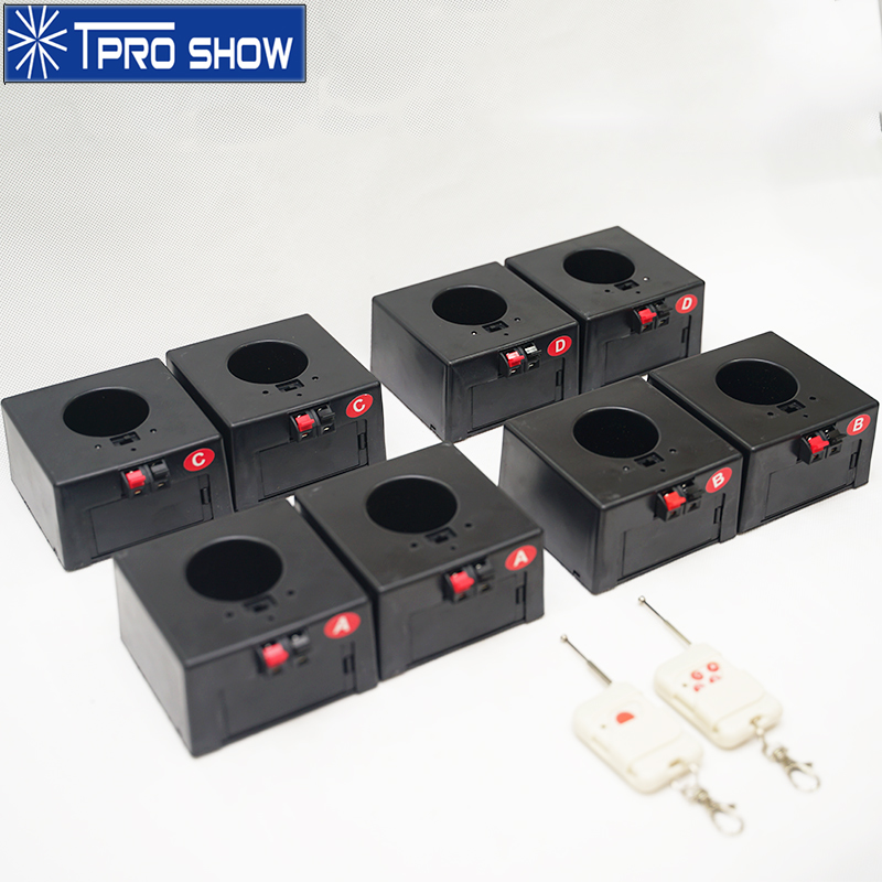 Cold Fireworks Fountain Wireless Control Mini Pyro Base System Remote Pyrotechnics Machine 8Cues 1Case For Stage DJ Wedding Show