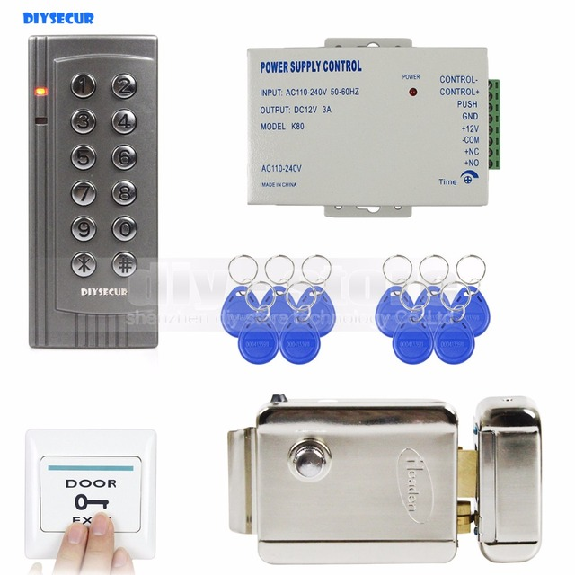 Diysecur 125khz Rfid Door Access Controller System Kit Electronic