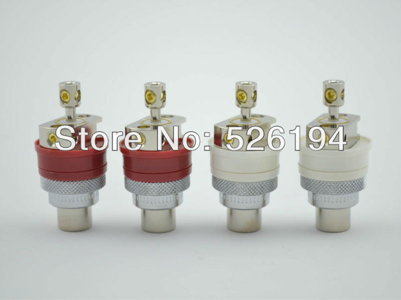 Free shipping 4pcs Viborg Rhodium Plated RCA Socket Chassis Female hifi audio non solder high performance gold plated viborg 805 tools rca socket fitting tool