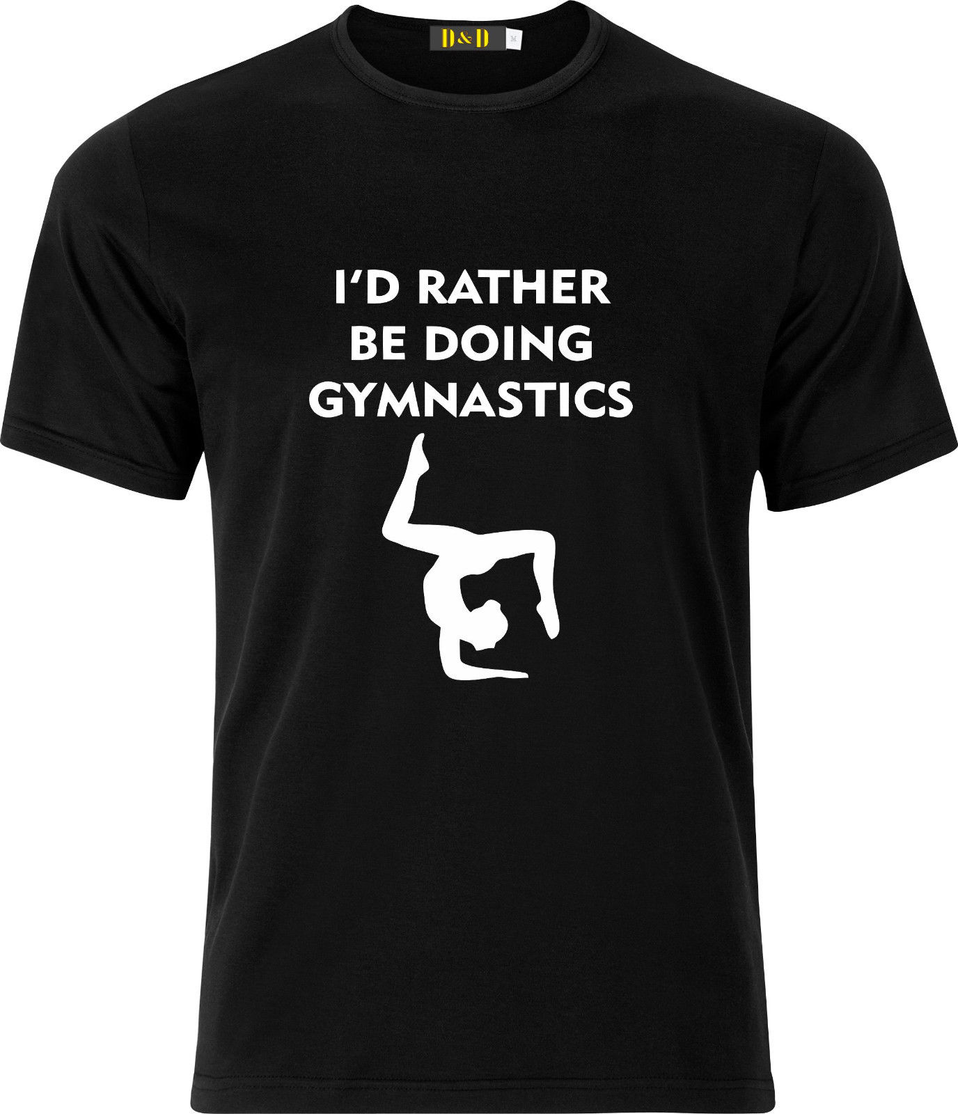 Id Rather Be Doing Gymnastics FUNNY HUMOR GIFT COTTON T SHIRT Mens Tops Cool O Neck T-Shirt Top Tee Cartoon Character