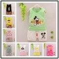 Vestidos de los niños ropa Infantil bebe girls casual de Dibujos Animados se adapte a los niños establece roupas infantis menina Baby girl clothes