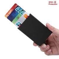Aolen Automatic Card Holder Rfid Wallet Aluminum Alloy Magic Pop Up Aluminum Wallet Business ID Card